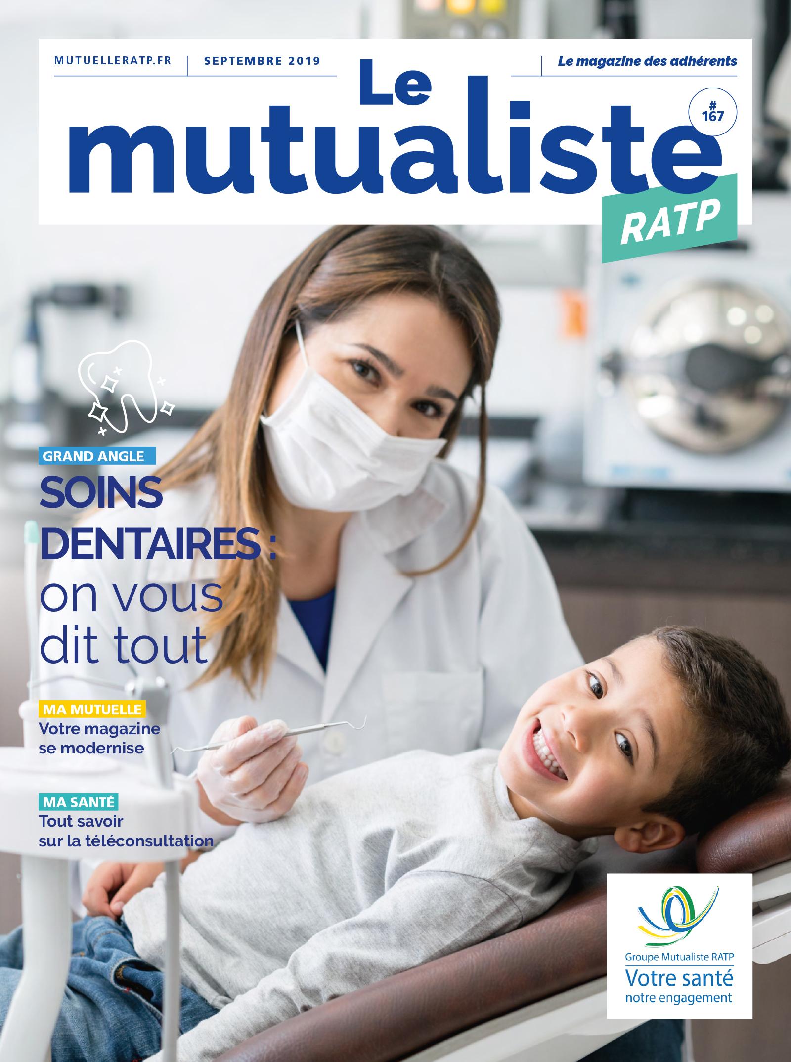 Consulter en ligne Le Mutualiste RATP – Édition septembre 2019
