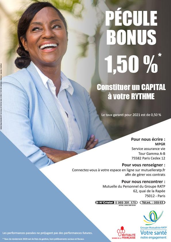 Assurance vie : taux de rendement 2020 à 1,50%*